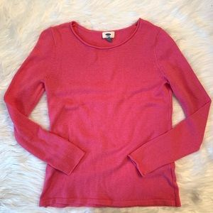 Old navy pink long sleeve sweater